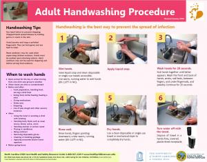 Adult Handwashing Poster screenshot