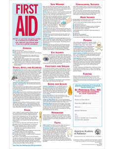 First Aid Poster from the American Academy of Pediatrics