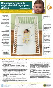 Safe Sleep Poster in Spanish
