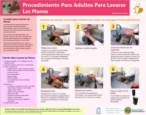 Adult Handwashing Poster screenshot Spanish