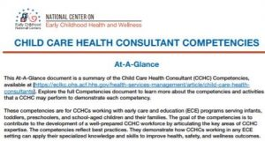 CCHC Competencies at-a-glance